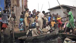 Makeshift school in Lagos, 2013 Makeshift school in Lagos: Nigeria has the most children without schools
