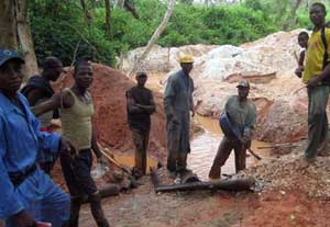 A coltan mine in the DRC. Photograph by Responsible Sourcing Network.
