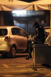 A sex worker near the central station in Rome. Credit: Pier Paolo Cito/Save the Children