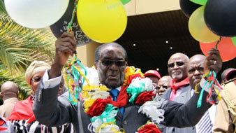 Zimbabwe's President Robert Mugabe at one of his birthday celebrations. (Gallo)