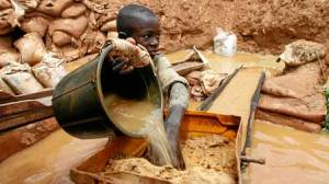 Heavy toll: Children are particularly vulnerable to poisoning by lead, which is released when the gold is extracted.(Reuters)