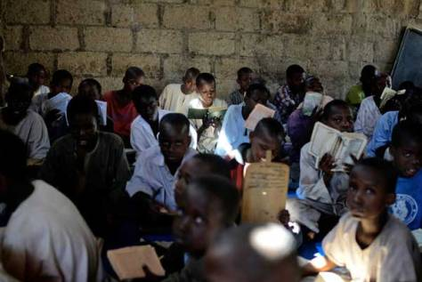 Nigerian children studying the Quran in the area where Abubakar Shekau, the Boko Haram leader, was once educated.  Credit Benedicte Kurzen for The New York Times
