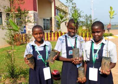 Students from Kisule Primary School in Kampala at the International Children's Climate Change Conference (ICCCC), July 2014, Uganda. Credit: Amy Fallon/IPS