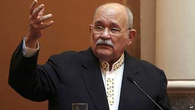 Father Miguel D'Escoto said he was happy to be able to celebrate mass again