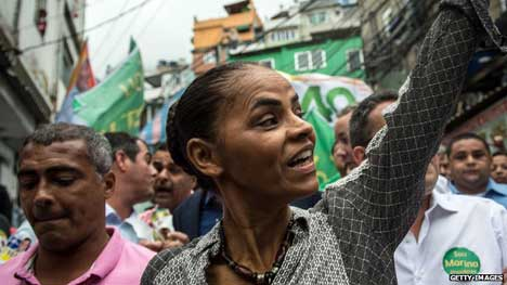 Marina Silva is gaining support from Brazilians who want a change