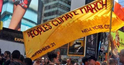 The People's March is the physical convergence of many new and resurgent climate movements, united in their firm belief that the time to confront the climate criminals in now. (Photo: peoplesclimate.org)