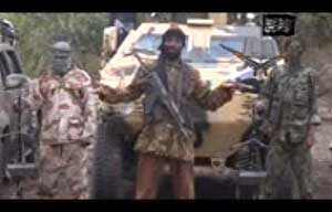 Abubakar Shekau in a low quality video admitted to kidnapping nearly 300 girls in Nigeria and threatened to sell them (Screengrab).
