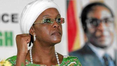Grace Mugabe recently attained a PhD a few months after enrolling, and as the head of Zanu-PF's Women's League, looks poised to take her husband's place at Zimbabwe's helm. (Reuters)