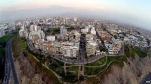 Aerial view of Lima Negotiators are gathered in Lima, Peru, for this year's UN's climate meeting