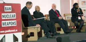 Representatives of several faith traditions assemble to discuss no-nukes movement at forum in Vienna.