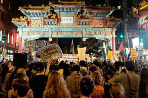 Marchers protest the acquittal of Michael Brown's killer in Chinatown, Washington, DC. (Photo: ep_jhu / Flickr)