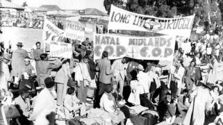 The Freedom Charter of 1955 is a document that was adopted to guide good governance and gave the anti-apartheid movement clear goals. (Mayibuye archive: Ronen Zvulun, Reuters)