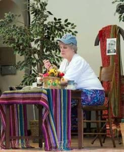 (Sr. Nancy Murray, OP, portrays Sr. Dorothy Stang, SND)