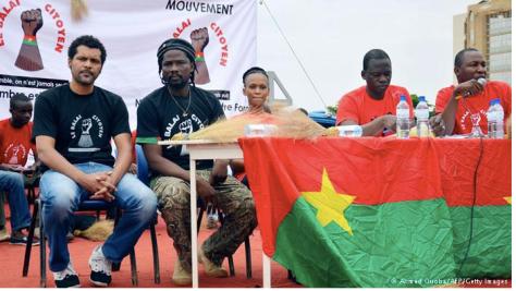 Members of Burkina Faso's civic organization Balai Citoyen.
