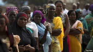 Crowds gathered in the early morning as polling stations opened to register voters