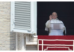Pope Francis during Angelus in St. Peter's Square - AFP