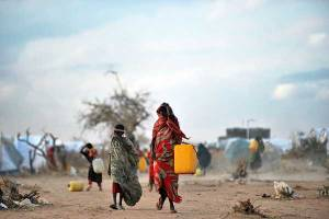 Refugees at the Dadaab camp in northern Kenya. AFP FILE PHOTO