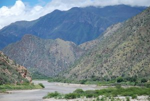 'The Marañón River in Peru where the government is proposing more than 20 dams on the main trunk.'  Photo credit: David Hill