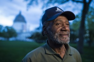 Charles Gladden, who is homeless, works in the Dirksen Senate Office Building kitchen. (Jabin Botsford/The Washington Post)