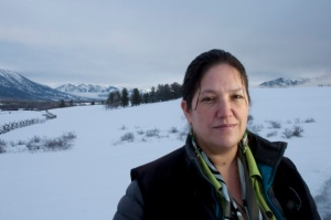 Marilyn Baptiste, leader of the Xeni Gwet'in. © Goldman Environmental Prize