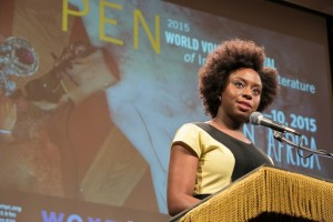 Nigerian author Chimamanda Ngozi Adichie. Credit: Beowulf Sheehan/PEN American Center