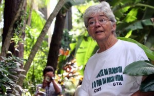 Sister Dorothy Stang, a member of the Sisters of Notre Dame de Namur in Belem, northern Brazil, in 2004. The nun was 73 when she was murdered Feb. 12, 2005, on an isolated road near the Brazilian town of Anapu. (Reuters/CNS/2004)