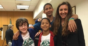 The youngest of the climate petitioners, some of whom are pictured here with attorney Andrea Rodgers, is nine years old. (Photo: Our Children's Trust/Facebook)