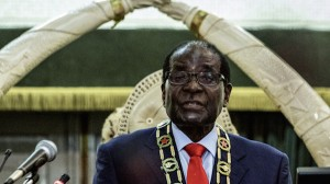 Zimbabwe President Robert Mugabe delivers his first State of the Nation address in eight years. (AFP)
