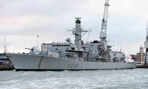 HMS Richmond would be used to board and seize vessels in the southern Mediterranean, said the Ministry of Defence. Photograph: Andrew Matthews/PA