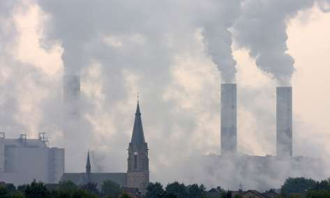 Church Steple and coal plants