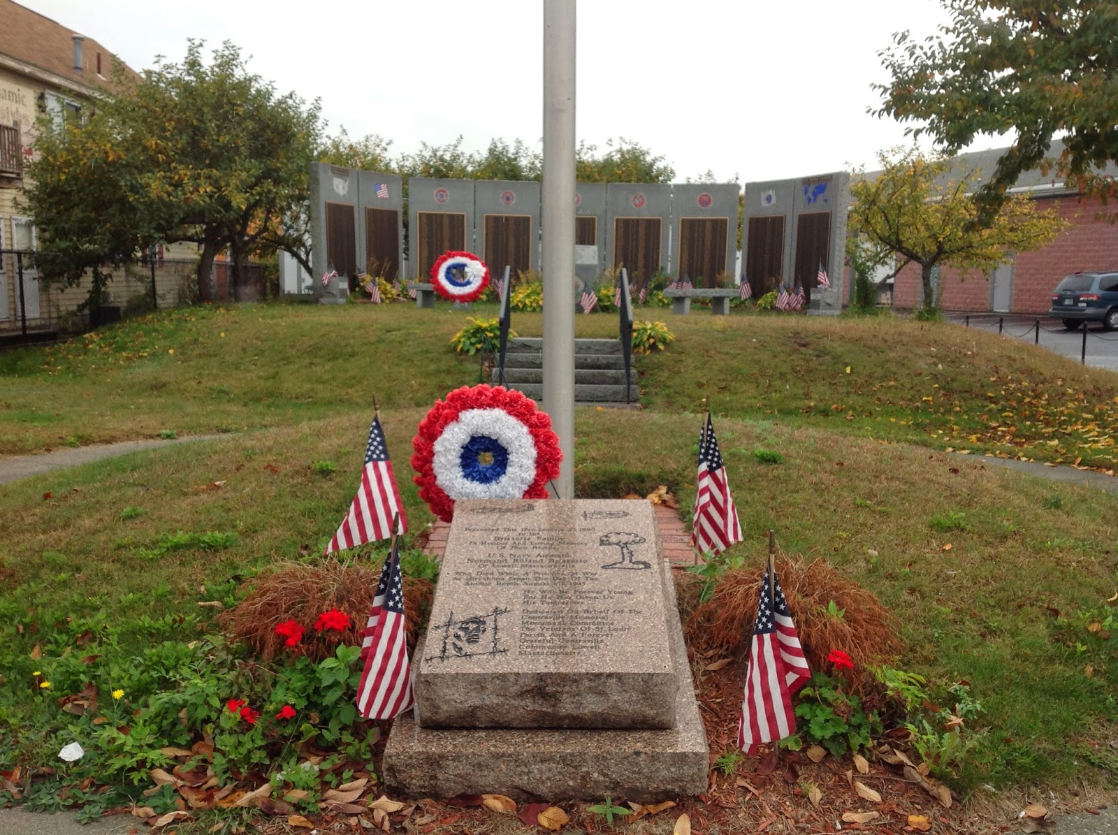 12 Hiroshima POWs - Monument for Normand Brissette of Lowell, MA
